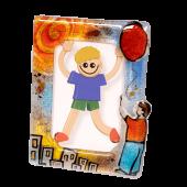 Κορνίζα γυάλινη 18χ13 αγόρι-μπαλόνι
