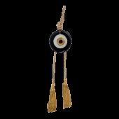 Γούρι γυάλινο μάτι MAAG 8Φ μαύρο