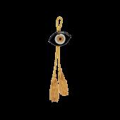 Γούρι μάτι γυάλινο MAAG 4χ6 μαύρο
