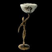 Κηροπήγιο μπρούτζινο γυναικεία μορφή 25χ9 χρυσή σπείρα λευκό