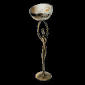 Κηροπήγιο μπρούτζινο γυναικεία μορφή 30χ9 χρυσή σπείρα λευκό-καφέ