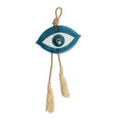 Γούρι μάτι γυάλινο 10,5Χ17 γαλάζιο