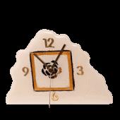 Ρολοϊ γυάλινο 16,5χ24 ασύμμετρο χρυσή σπείρα λευκό  επιτραπέζιο
