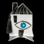 Σπίτι γυάλινο 15χ10 γκρι με μάτι σε μεταλλική βάση