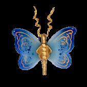 Πεταλούδα γυάλινη 15χ17 Ίριδα γαλάζιο