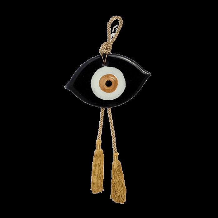 Γούρι γυάλινο μάτι MAAG 10,5χ17 μαύρο