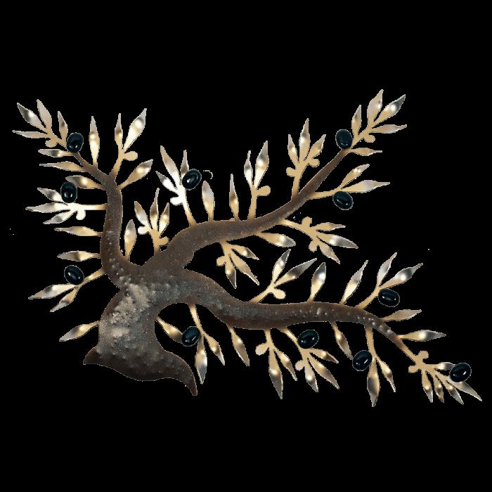 Δέντρο ελιάς μεταλλικό χειροποίητο επιτοίχιο ''Καλλίστη'' 38χ60