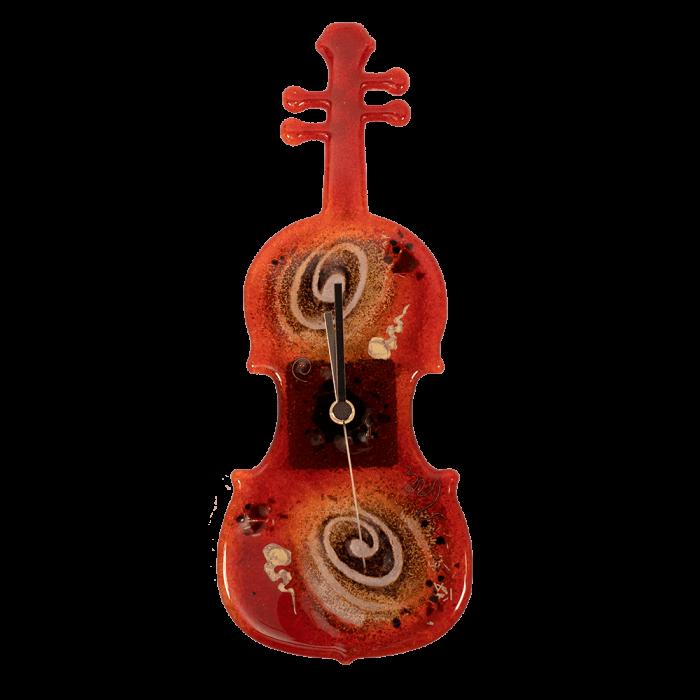 Ρολοϊ γυάλινο  βιολί 33χ11,5 κόκκινο επιτραπέζιο