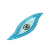 Πιατέλα χειροποίητη γυάλινη πιρόγα ''Καλλίστη'' μάτι γαλάζιο 9,5x30