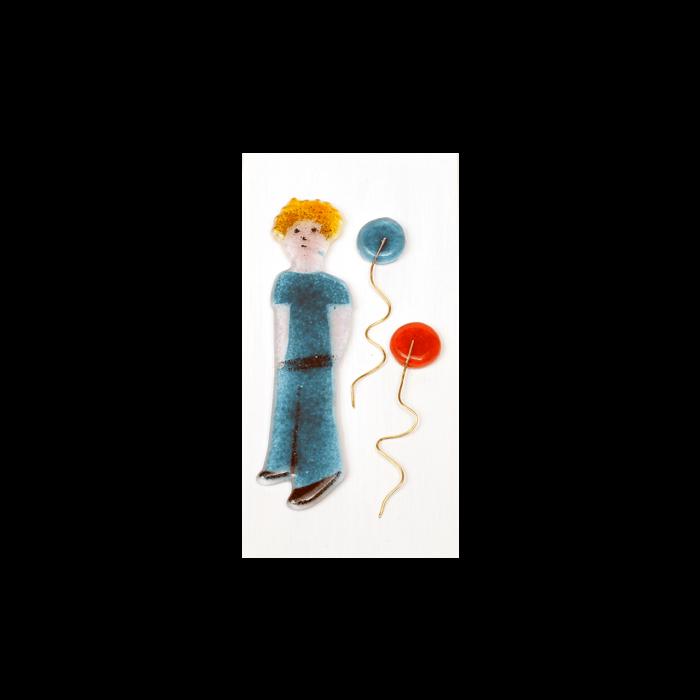 Πίνακας ξύλινο χειροποίητο ''Καλλίστη'' πρίγκιπας γαλάζιο 19,5χ9,5