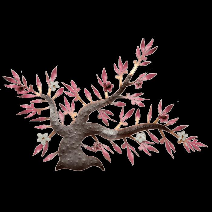 Δέντρο  μεταλλικό χειροποίητο ''Καλλίστη'' αμυγδαλιά ροζ 40χ57,5